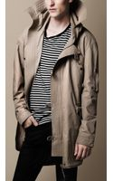 Burberry Coated Cotton Heritage Storm Coat - Lyst