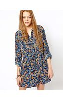 Pepe Jeans London Floral Tie Waist Dress