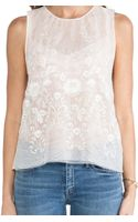 Rachel Zoe Clarke Embroidered Boxy Top - Lyst