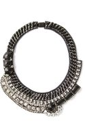 Barbara Bui Crystal Embellished Necklace - Lyst