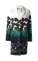 Cedric Charlier Printed Single Breasted Coat - Lyst