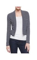 Three Dots Longsleeve Striped Cardigan - Lyst