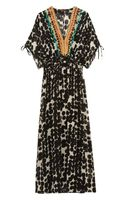 Vineet Bahl Embellished Printed Chiffon Maxi Dress - Lyst
