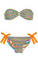 Missoni Reversible Crochet-knit and Printed Bandeau Bikini - Lyst
