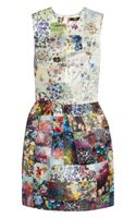 Markus Lupfer Vivian Printed Satin Mini Dress
