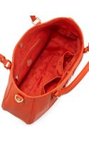 Tory Burch Amanda Classic Hobo Bag Blood Orange