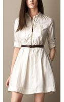 Burberry Heritage Shirt Dress with Leather Belt