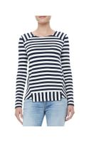 Marc By Marc Jacobs Yuni Striped Ponte Top