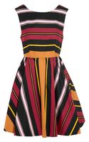 Alice + Olivia Fila Striped Cottonblend Dress - Lyst