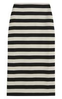 Burberry Prorsum Striped Satinjersey Pencil Skirt