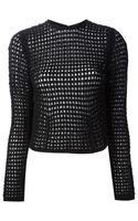 Alexander Wang Cropped Loose Knit Sweater - Lyst