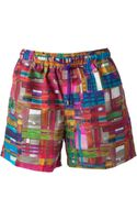 Etro Printed Swim Shorts - Lyst