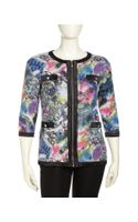 Michael Simon Shortsleeve Sequined Knit Cardigan Womens - Lyst