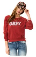 Obey The Triblend Raglan Sweatshirt