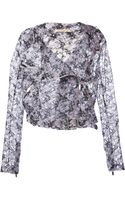 Christopher Kane Embroidered Mesh Jacket - Lyst