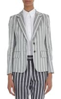 Thom Browne Striped Three-button Jacket