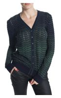 M Missoni Long Sleeve Cardigan Sweater