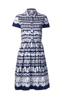 Oscar de la Renta Lace Printed Dress