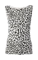 Saint Laurent Leopard Print Vest Top - Lyst