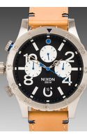 Nixon The 4820 Chrono Leather in Beige - Lyst