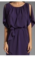 Trina Turk Matte Jersey Larkspur Cold Shoulder Dress in Purple - Lyst