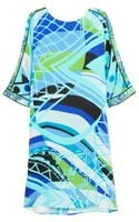 Emilio Pucci Lamborghini Printed Silk Dress - Lyst