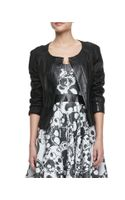 Milly Pythonembossed Leather Jacket - Lyst