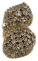 Erickson Beamon Hello Sweetie Goldplated Swarovski Crystal Ring - Lyst