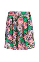 River Island Green Floral Print Mini Skirt - Lyst