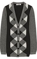 Valentino Patterned Wool and Cashmere Blend Cardigan - Lyst