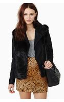 Nasty Gal Blank Nyc Lie Faux Fur Leather Jacket