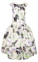 Marchesa Floral Print Silk Gazar Dress