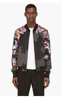 3.1 Phillip Lim Black Embroidered Floral Bomber Jacket