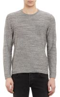 Rag & Bone Patchpocket Pullover Sweater - Lyst