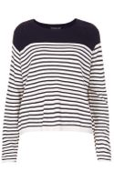Topshop Tall Knitted Stripe Jumper