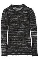 Isabel Marant Julia Openknit Cotton Blend Top - Lyst