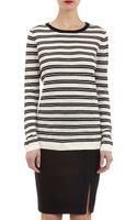 Barneys New York Striped Sweater - Lyst