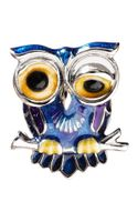 Jan Leslie Winking Owl Lapel Pin