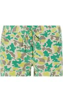 Equipment Lillian Printed Washedsilk Shorts - Lyst