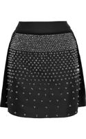 Antonio Berardi Embellished Satintwill Mini Skirt - Lyst