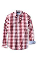 Banana Republic Tailored Slim Fit Soft Wash Bold Gingham Shirt Ranger Red