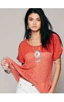Free People We The Free Rachels Hacci Tee - Lyst