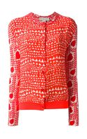 Stella McCartney Heart Printed Cardigan - Lyst