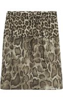 Michael by Michael Kors Animalprint Chiffon Mini Skirt - Lyst