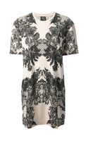 McQ by Alexander McQueen Lace Print Jersey Dress - Lyst