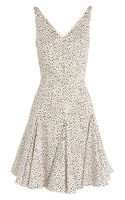 Oscar De La Renta For The Outnet Printed Cotton Blend Dress - Lyst
