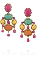 Oscar de la Renta Goldplated Resin Clip Earrings - Lyst