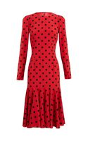 Dolce & Gabbana Polka Dot Silk Dress - Lyst