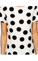 John Zack Shift Dress in Polka Dot - Lyst