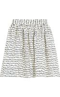 Chinti And Parker Printed Cotton Mini Skirt - Lyst